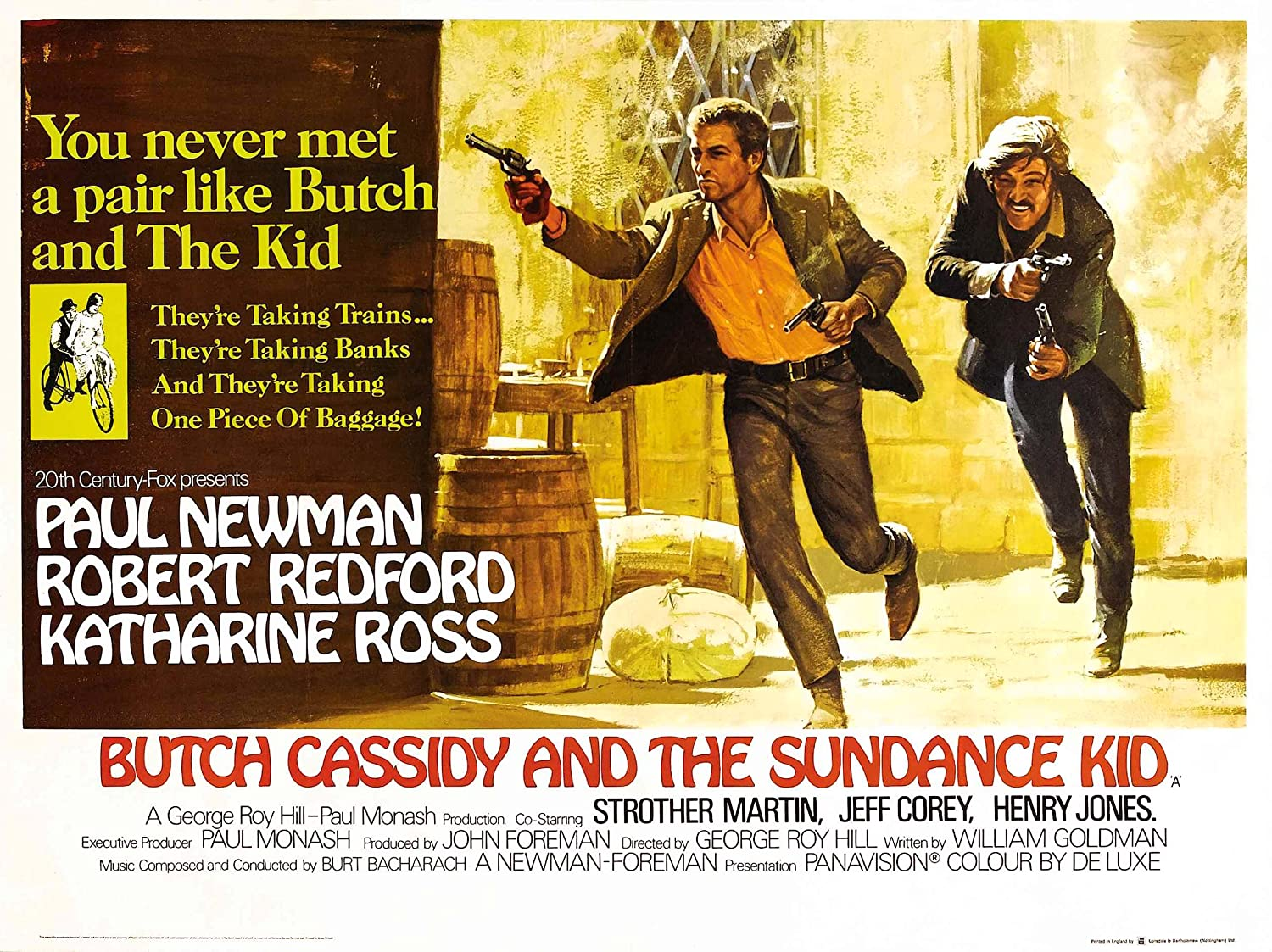 VINTAGE MOVIE / FILM POSTER SUPERB QUALITY BUTCH CASSIDY AND THE ...