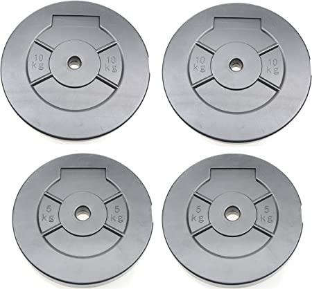 Weights Plates Weight Training Disc 2 X 5kg 2 X 10kg Weight Plates Vinyl Plates 30kg Total Amazon Co Uk Sports Outdoors