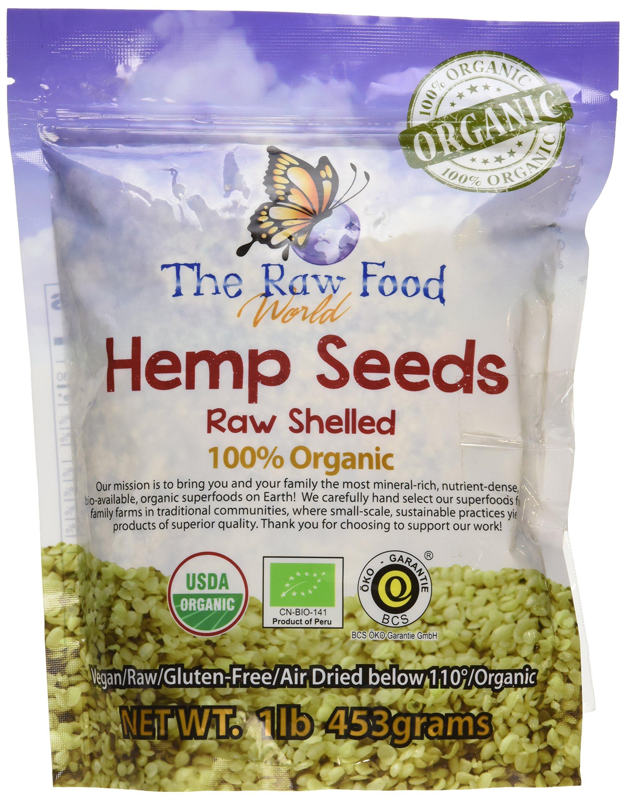 Organic Raw Hemp Seeds, 16oz