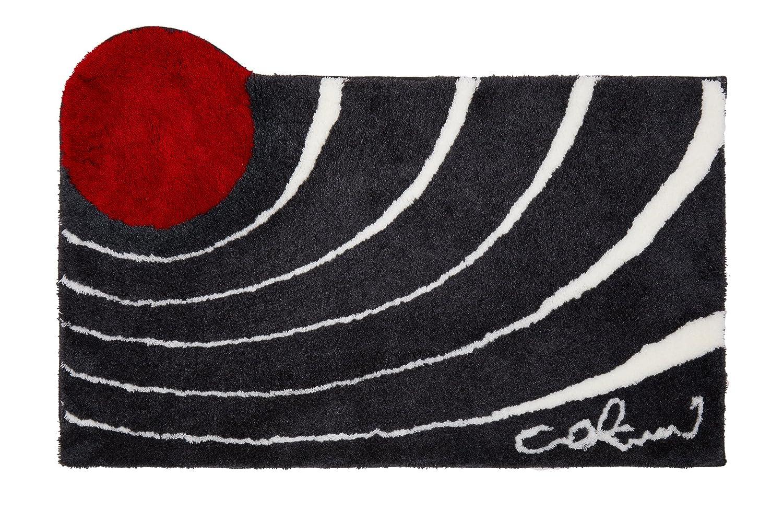 Grund 862234068 Badteppich Colani 2, 70 x 120 cm, schwarz