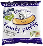 Kiddylicious Blueberry Fruity Puffs 10 g (Pack of 6)