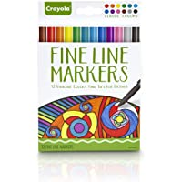 CRAYOLA 58-7713 12ct Fineline Markers Classic - Adult