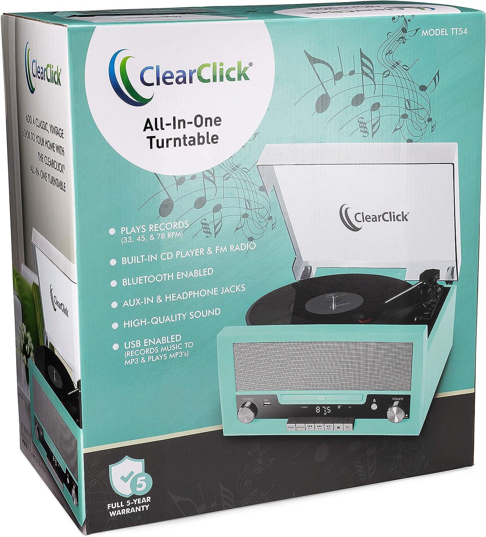 Amazon.com: ClearClick - Tocadiscos todo en uno con ...