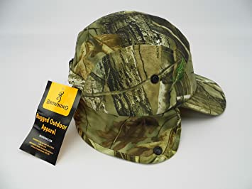 Browning camo cap   hat with veil for hunting   shooting and fishing ... 9ac4e1bc91f2