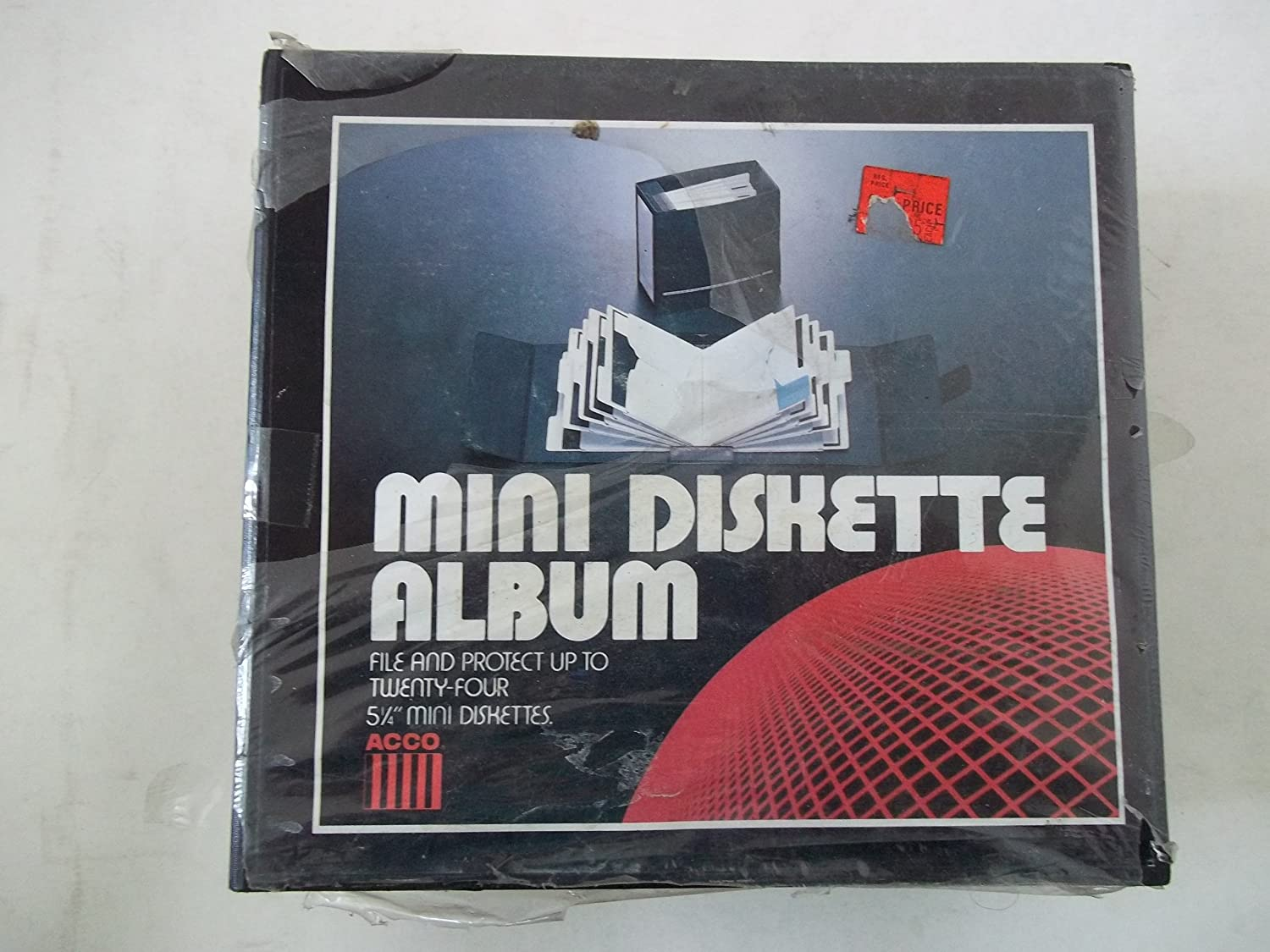 Acco Mini Diskette Album 5 1//4 Diskette Album With 12 Static Resitant Pockets Great for CDs Holds 24 Diskettes