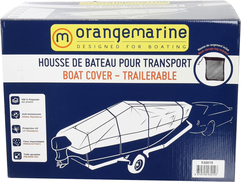 Gris ORANGEMARINE Housse transport bateau 570-620 x290 cm