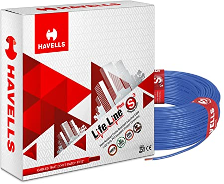 Havells Life Line Plus S3 2.5 sq mm PVC HRFR Cable (Blue)