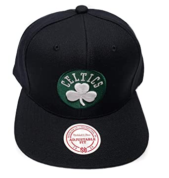 543b3b80 Image Unavailable. Image not available for. Color: Mitchell & Ness Boston  Celtics Current Solid Wool Snapback Hat NBA
