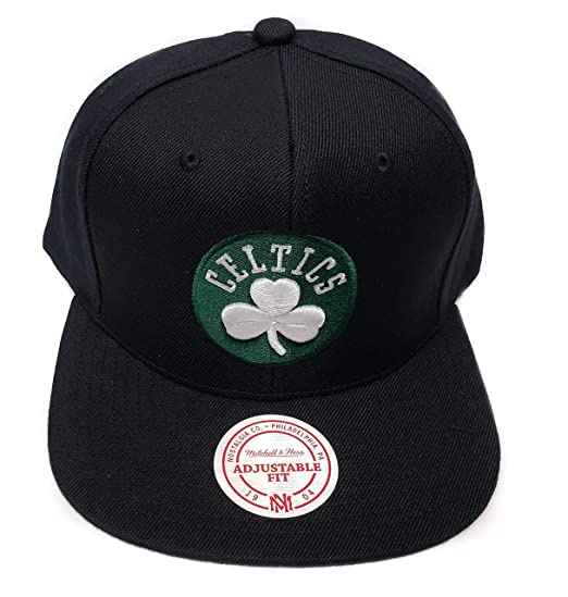 23fcf1e8fe1 Image Unavailable. Image not available for. Color  Mitchell   Ness Boston  Celtics Current Solid Wool Snapback Hat NBA