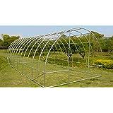 probache grande serre de jardin tunnel 7 arceaux pro galvanise 18m 6x3x2m jardin. Black Bedroom Furniture Sets. Home Design Ideas