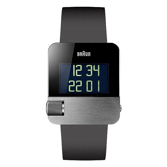 Braun BN0106SLBKG - Reloj digital de pulsera, acero inoxidable: Amazon.es: Relojes