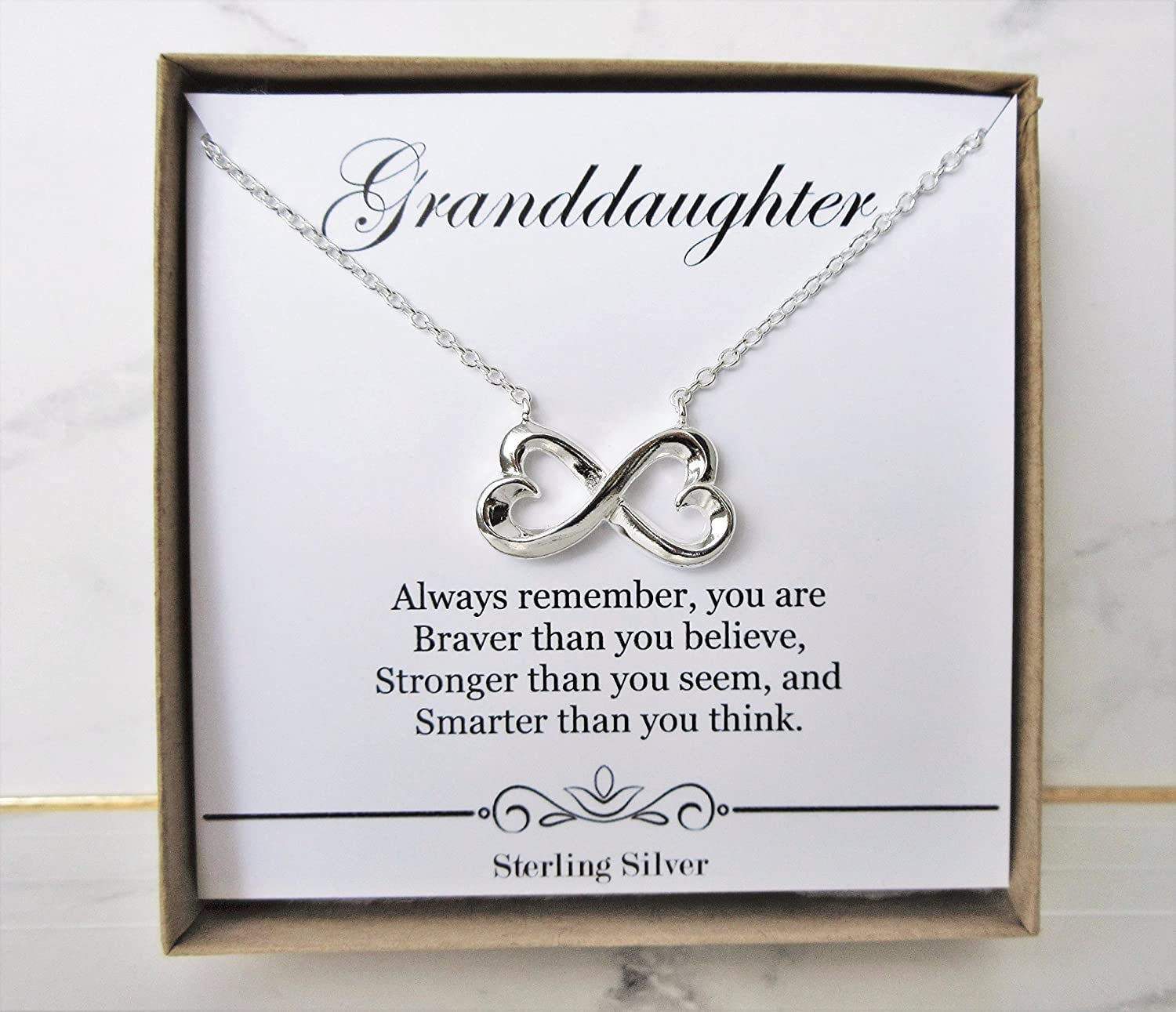To MY Granddaughter Necklace Jewelry Gift Love Grandma To Granddaughter For Christmas Birthday School Graduation Wedding Granddaughter Gift