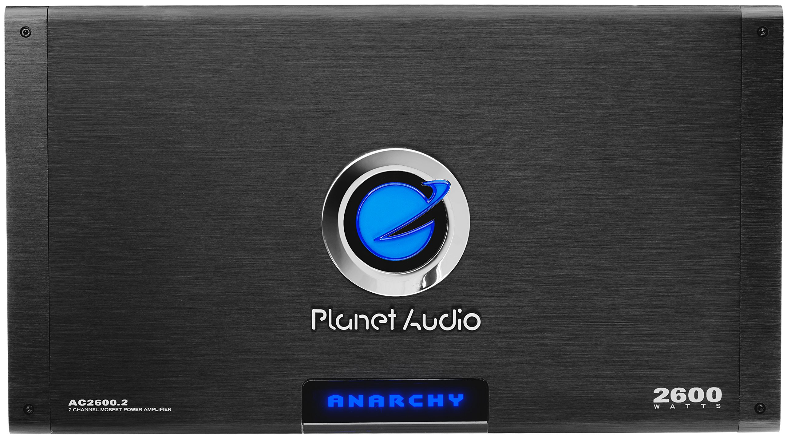 Planet Audio AC2600.2 Anarchy 2600 Watt, 2 Channel, 2/4 Ohm Stable Class A/B, Full Range, Bridgeable, MOSFET Car Amplifier with Remote Subwoofer Control