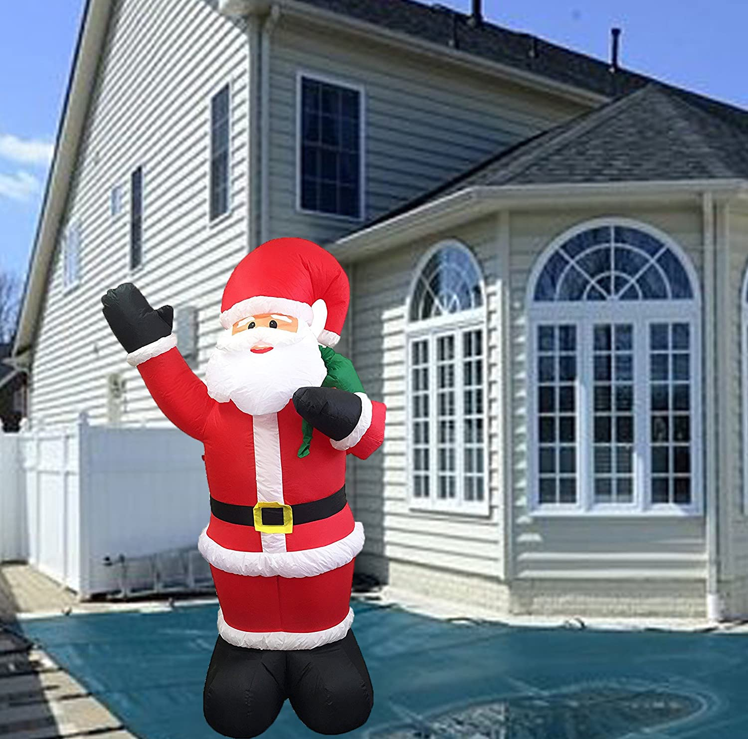 6 Ft Christmas Inflatable Santa Claus Lawn Yard Home Decoration