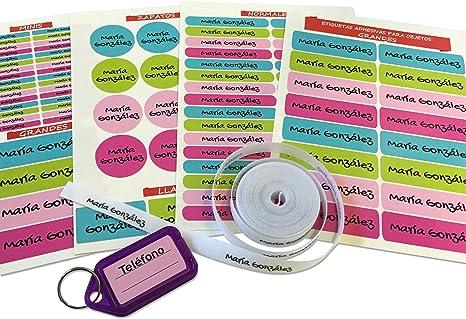 Pack de 146 etiquetas para marcar ropa y objetos. (Paleta 9) 50 ...