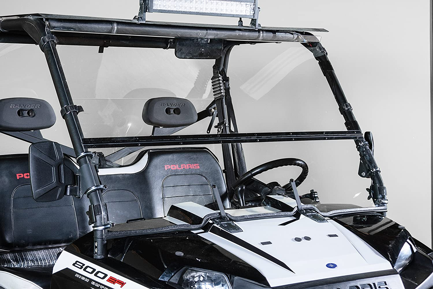 POLARIS RANGER FULL SIZE (2009 XP, 2010-2014) FULL-TILT WINDSHIELD (Does  not fit 900 OR Mid Size)  Best of both worlds Half when you want and Full