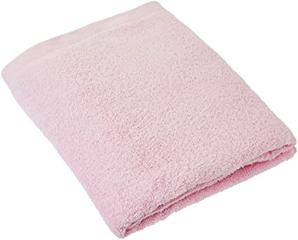 Lasa Home – Toalla de baño, algodón, Rosa, 100 x 150 x 1