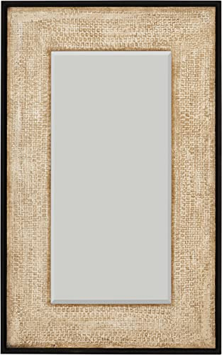 Amazon Brand Stone Beam Rustic Woven Frame Mirror