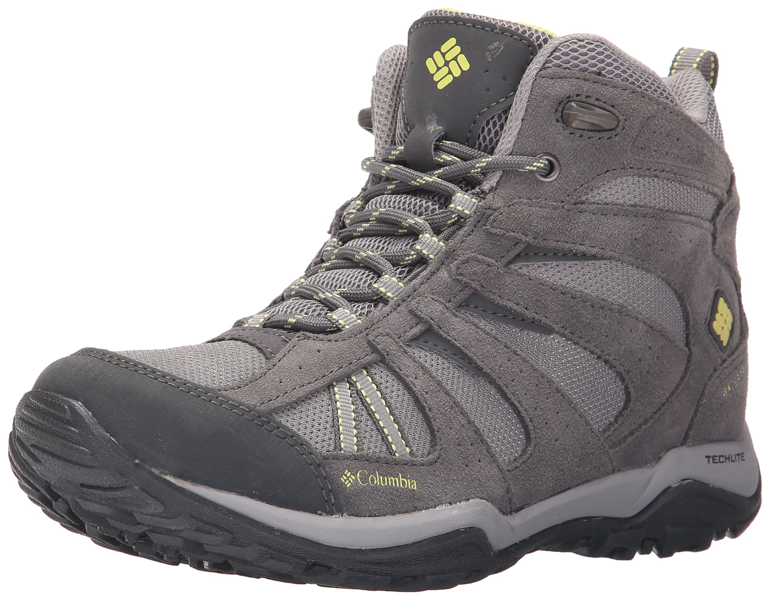 Columbia Women's Dakota Drifter MID Waterproof Hiking Boot, Light Grey, Sunnyside, 9.5 B US by Columbia