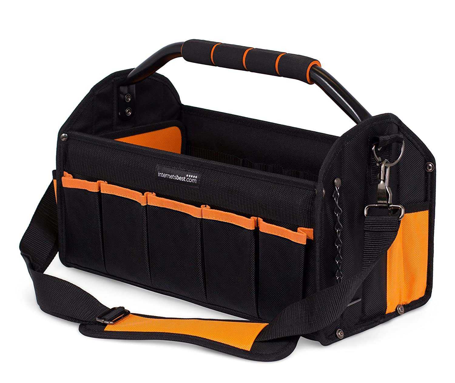 Internet\'s Best Open Top Electricians Tool Bag | Stiff Frame Tote ...