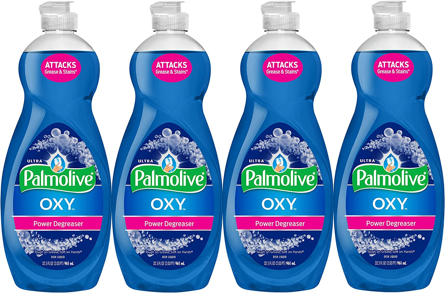 Palmolive Ultra Dish Soap Oxy Power Degreaser, 32.5 oz - 4 Pack: Health & Personal Care