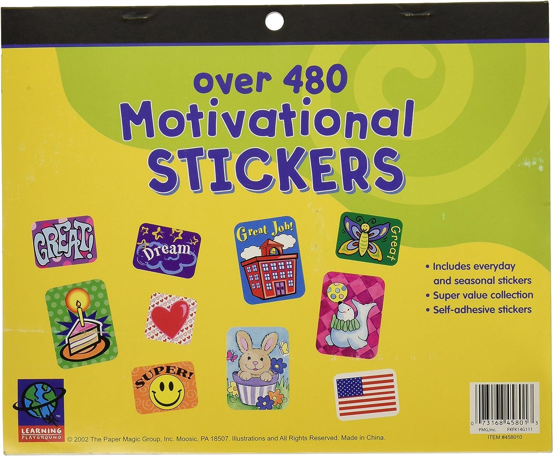 Paper Magic 458010 Eureka Jumbo Motivational Sticker Book 480 Count