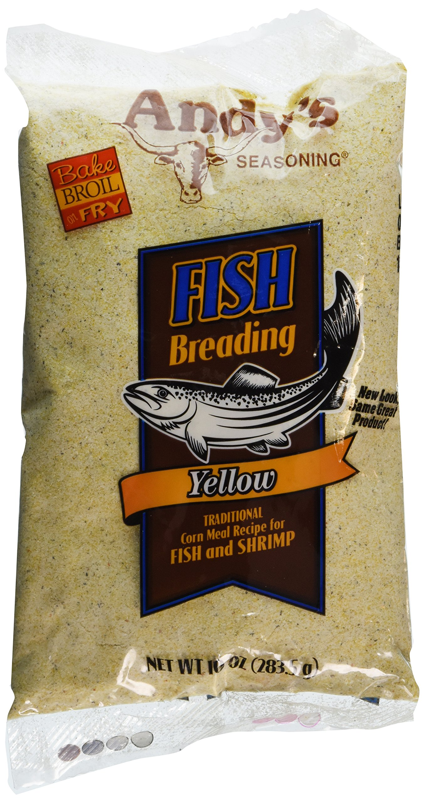 Andy's Seasoning Yellow Fish Breading 10oz(Pack of 3)