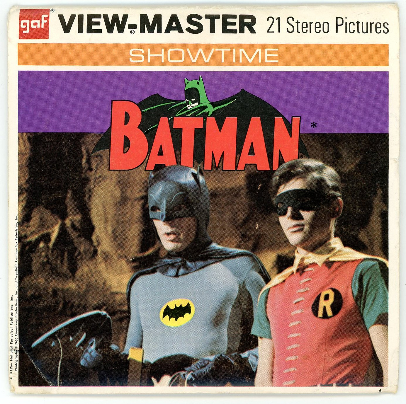 BATMAN View-Master 3 Reel Set - 21 3d Images - Adam West by View Master (Image #1)