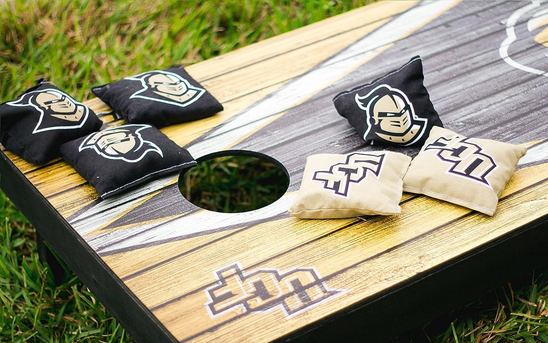 Emporia State Hornets Regulation Cornhole Game Set Banner Vintage Version