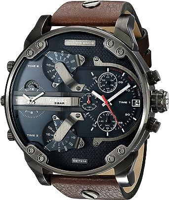 diesel men s dz7314 mr daddy 2 0 gunmetal brown leather watch diesel men s dz7314 mr daddy 2 0 gunmetal brown leather watch