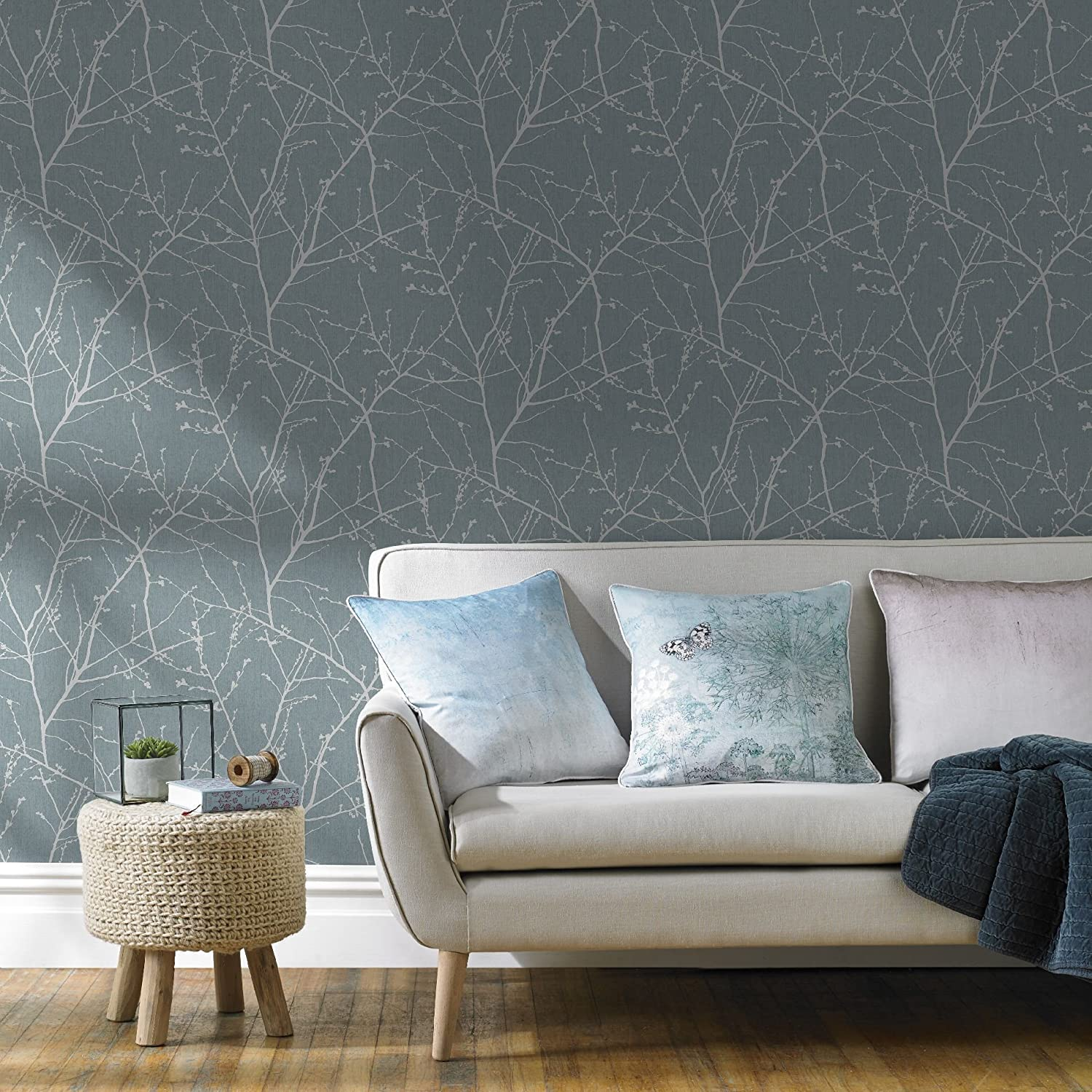 Graham & Brown 33-270 Innocence Duck Egg Wallpaper