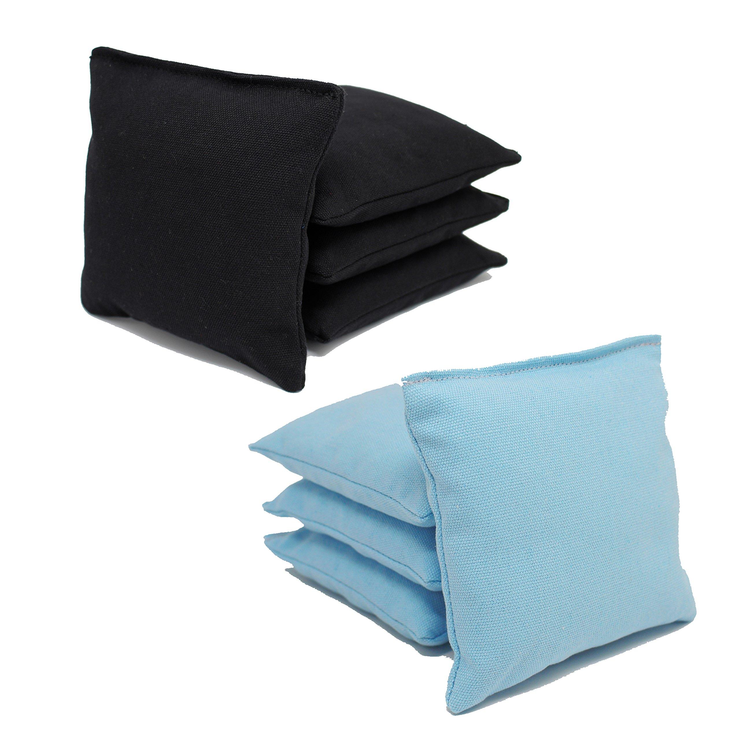 Cornhole Bags Set - (4 Light Blue, 4 Black) By Free Donkey Sports