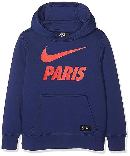 6f7cb09ac Nike Children's Paris Saint Germain Hoodie, Black/Loyal Blue/Challenge Red,  ...