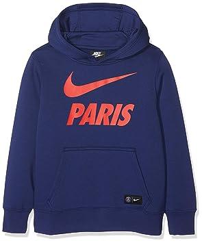 Nike Niños Paris Saint Germain Hoodie, otoño/Invierno, Infantil, Color Black/Loyal Blue/Challenge Red, tamaño Large: Amazon.es: Deportes y aire libre
