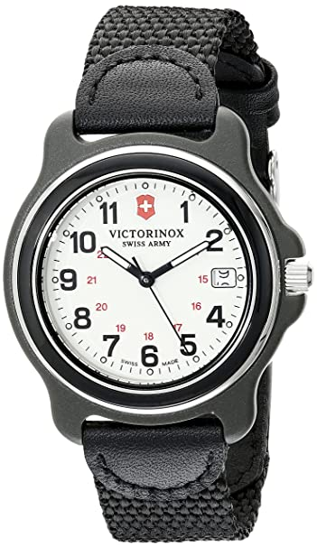 sitio de buena reputación b69ba a7da0 Victorinox para Hombre 249089 Pantalla Original analógica Swiss Reloj de  Cuarzo Negro