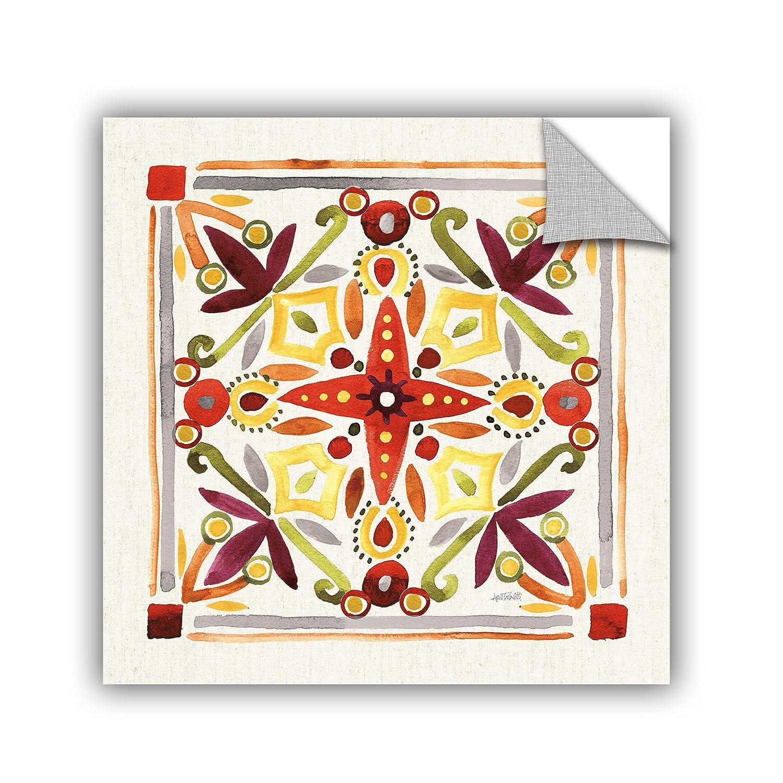 Anne Tavoletti Fall Blooms Tile III Removable Wall Art Mural 24X24