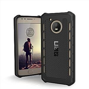 URBAN ARMOR GEAR UAG Motorola Moto E4 Outback Feather-Light Rugged [Black] Military Drop Tested Phone Case