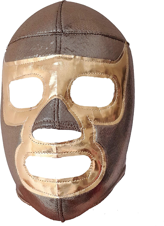 Mask Maniac RAMSES Adult Lucha Libre Wrestling Mask (pro-fit) Costume Wear - Gold, Large