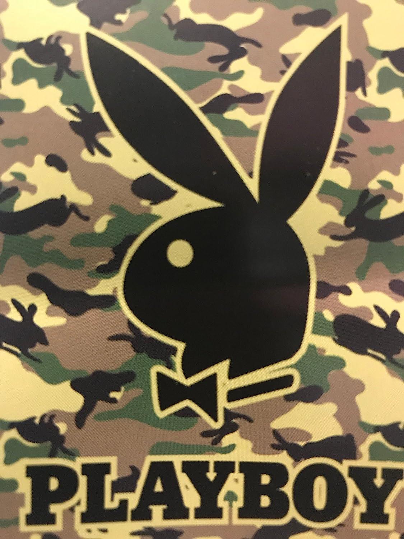Playboy Bunny Heavy Weight Fuzzy Mink Blanket-Camo Bunny