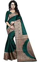 J B Fashion Silk Saree With Blouse Piece(H-Saree For Women-Kalamkari)