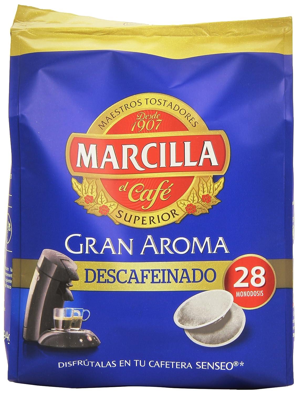Marcilla Café Gran Aroma Descafeinado. 5 packs de 28 monodosis ...