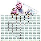 MamboCat Lot de 100 bocaux en verre de 125 ml avec couvercles blancs To 66 et livret de recettes de la marque de sucre gélifiant Diamant (français non garanti).