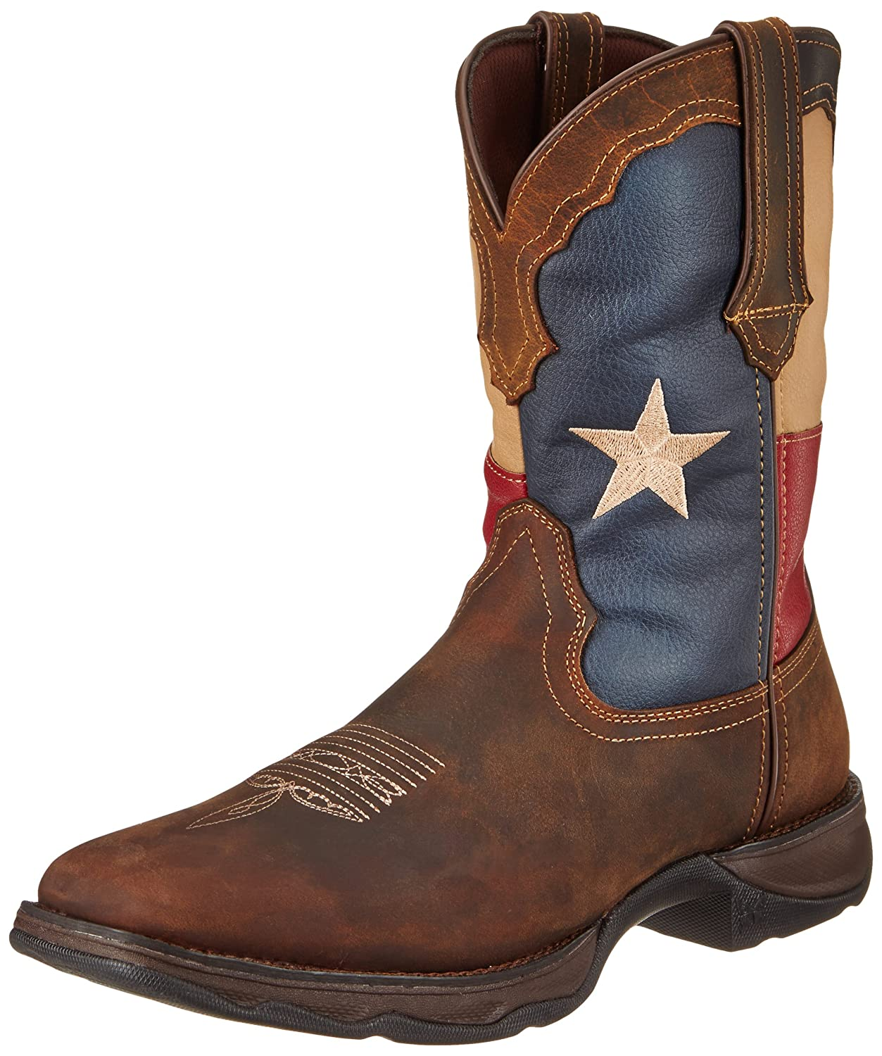 Durango Women's 10 Inch Flag RD3446 Western Boot B009V2XF4G 6 M US|Dark Brown/Texas Flag