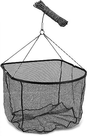 gummiertes Netz klappbar Aluminiumgestell Storfisk fishing /& more Spundwandkescher mit 20 m Seil