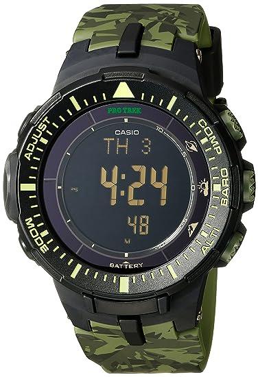 Casio PRG-300CM-3CR Pro Trek - Reloj Triple Sensor de energía Solar para Hombre: Casio: Amazon.es: Relojes