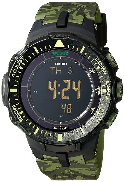 Casio PRG-300CM-3CR Pro Trek Reloj con Triple Sensor de ...