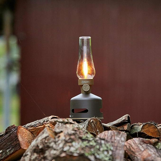 Led Lantern Speaker Brown Sbam Mp3 Hifi