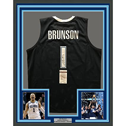size 40 f48aa 11844 Framed Autographed/Signed Jalen Brunson 33x42 Villanova ...