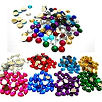 AM Multicolour Kundan Stones Round and Drop Shape Combo for Jewellery Making
