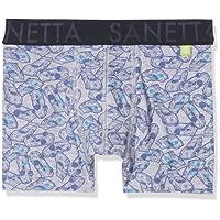 Sanetta - Jungen Unterhose Shorty Denim Autos, Hellgrau, Grau - 333990